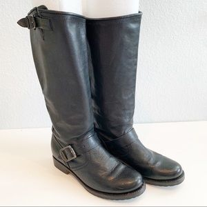 Frye Veronica Buckle Tall Slouch Boots, Size 7.5